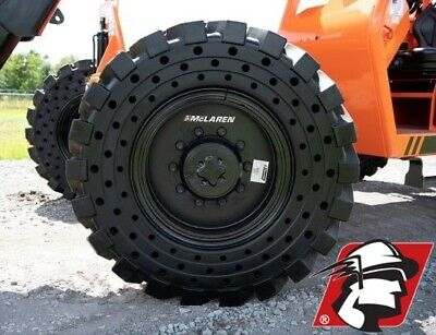 13x24 Telehandler Flat Proof Solid Tire Set Of Four On Rim