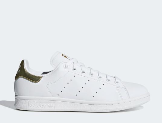 New Adidas Women's Stan Smith Shoes (EE8836)  White / White-Gold Metallic