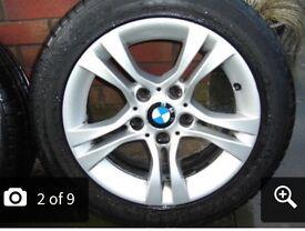 "£80 !!! BMW 16"" alloys new tyres"