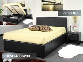 Leather ottoman bed bYLP
