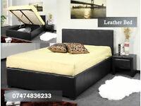 Leather ottoman bed DAN