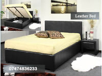 Leather ottoman bed IwE