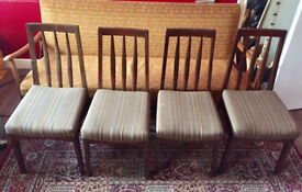 Set of 04 dinning table chairs. Solid wood, good condition.