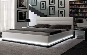 White LED Colby Queen Bed - Very Nice!!