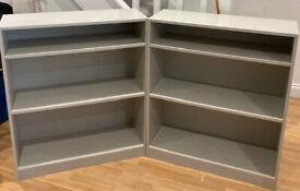 2x Habitat Maine 2-Shelf Bookcases in Grey (Fulham - easy collection ground floor)