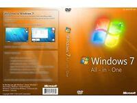 Windows 7 Recovery Repair Restore Boot Disc 32bit & 64bit 9 in 1 (no key needed)