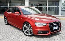 2013 Audi A4  Red Sports Automatic Dual Clutch Sedan St James Victoria Park Area Preview