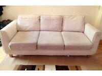 Cream, 3-seater sofa