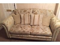 3 piece suite - large 2 seater and 2 chairs. REDUCED TO JUST £80 TO SELL THIS WEEKEND