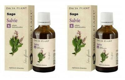 Salvia Tintura Salvia Officinalis Planta Extracto Puro Natural Fresh 2 X 50ml segunda mano  Embacar hacia Spain