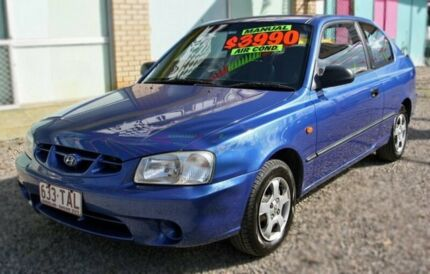 2002 Hyundai Accent  Blue 5 Speed Manual Hatchback Margate Redcliffe Area Preview