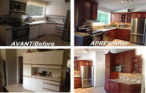 Special Kitchen Cabinets10'X10' Wood: $2,900 +Tx QuebecKitchens