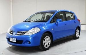 2010 Nissan Tiida C11 MY07 ST Blue 4 Speed Automatic Hatchback Invermay Launceston Area Preview