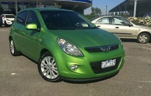 2010 Hyundai i20 PB Premium Green 5 Speed Manual Hatchback Meadow Heights Hume Area Preview