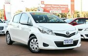 2013 Toyota Yaris NCP130R YR White 4 Speed Automatic Hatchback Wangara Wanneroo Area Preview