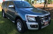 2013 Ford Ranger PX XLT Double Cab Green 6 Speed Sports Automatic Utility Berrimah Darwin City Preview