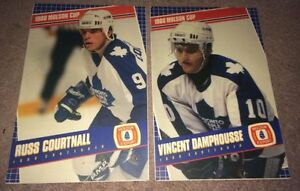 2 Toronto Maple Leafs Poster boards Damphousse & Courtnall 1980s