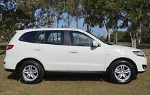 2010 Hyundai Santa Fe CM MY10 SLX White 6 Speed Sports Automatic Wagon Bundaberg West Bundaberg City Preview