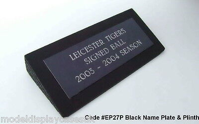 ENGRAVED NAME PLAQUE & PLINTH FOR FOOTBALLS / RUGBY BALLS EP27P