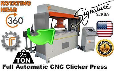 New Cjrtec 25 Ton Travel Head Clicker Press Full Automatic Cnc W Rotating Head