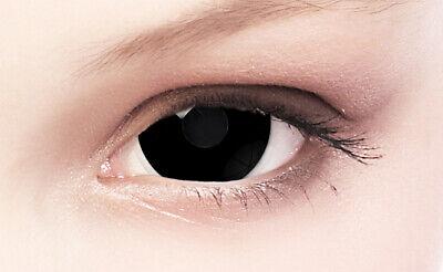 Black Mini Sclera Lenses - Schwarz Crazy Farbige Kontaktlinsen 17mm + Behälter
