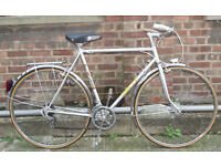Classic Vintage french road bike ,frame size 22inch - stylish with character - new brakes & tyres