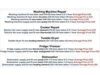 DOMESTIC APPLIANCE REPAIR CHEAPEST REPAIRMAN IN DORSET WASHING MACHINES COOKERS FRIDGES DISHWASHERS