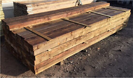 """🌳Wooden/Timber Pressure Treated Posts 3""""X 5""""X 3M"""