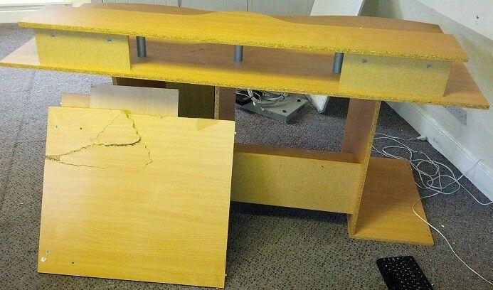 Office desk originally £100 from jysk & only ever part built. in