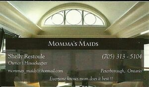 Momma's Maids has openings for new clients Peterborough Peterborough Area image 1
