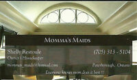 Momma's Maids Has Openings For Clients
