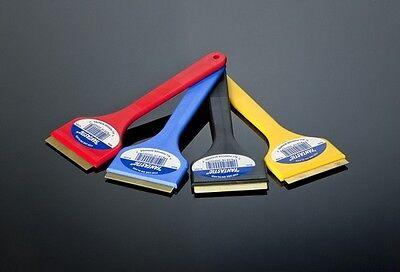 4 X Fantastic Brand 9 Brass Blade Ice Scraper / Cj Industries F101- Colors Vary