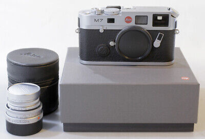 [MINT IN BOX]Leica M7 0.72 35mm Rangefinder Film Camera-Silver+ELMAR-M 50mm F2.8