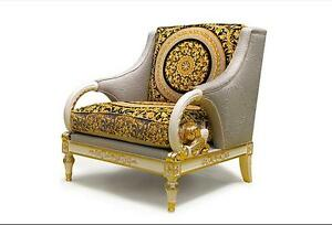 "Brand new ""Gold Unique Arm chair"" (pair)$1950/set,hand made"