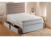 CLASSY LOOK Double Orthopaedic Divan Bed and Mattress White WE GOT SINGLE SMALL DOUBLE