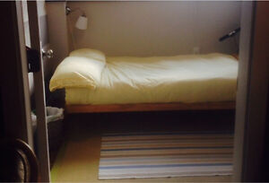 Futon and wooden frame