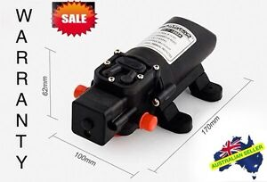 12V Water Pump 4.3Lpm Self-Priming Caravan Camping Boat FAST POST & WARRANTY