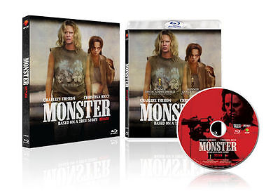 Monster  2014 Blu Ray  Slip Case   Patty Jenkins Charlize Theron Christina Ricci