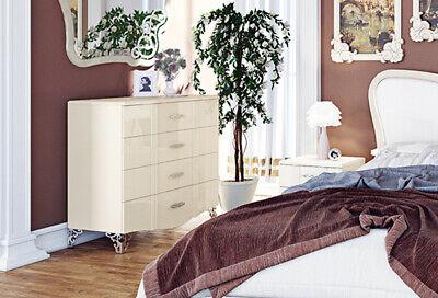 Kommode Schubladenkommode Anrichte 91cm creme Hochglanz Vintage 61964184