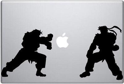 "Street-Fighter Vinyl Decal Sticker For MacBook Air Pro Mac 11"" 13"" 15""  & Car"