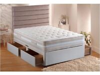 **SALE ON **Double/Small Double Divan Bed Bases w/ 10inch thick Dual-Sided Full Orthopaedic Mattress