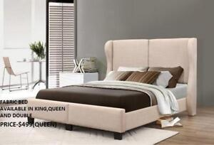 FABRIC BEDS SALE!!! REDUCED PRICES : GRAND SALE- 50% OFF (IF53)
