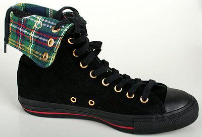 Plaid Schuhe (Converse Schuhe CT KneeHi Plaid 100082 black/red)
