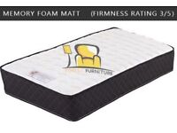 BRAND NEW MEMORY REFLEX FOAM, ORTHOPEDIC POCKET SPRING MATTRESSES IN SINGLE SMALL DOUBLE KING SIZE
