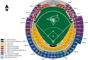 Season Tickets Toronto Blue Jays 100 Level Outfield & 500 Level