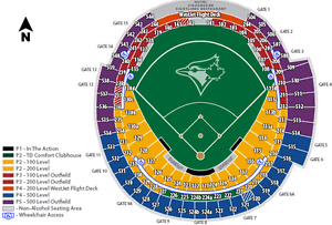 Toronto Blue Jays Tickets Every game 2017 Season 100L Premium