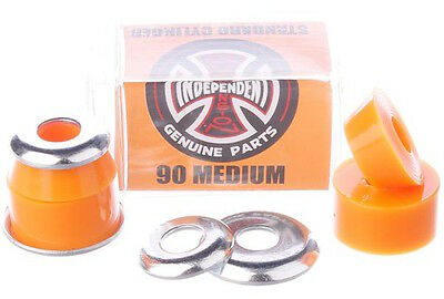 INDEPENDENT Standard Cylinder Cushions Medium 90A Orange Skateboard Bushings