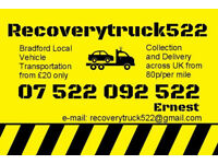 Recovery Truck / Vehicle Transportation Service - Bradford / West Yorkshire / UK