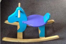 Rocking horse - solid wood from Ikea
