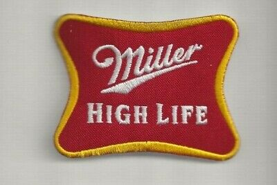 """NEW 2 3/8 X 3 1/8"""" MILLER HIGH LIFE IRON ON PATCH FREE SHIP CP1"""
